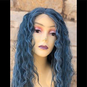 Blue Aqua Blue Baby Blue Wig Lacefront